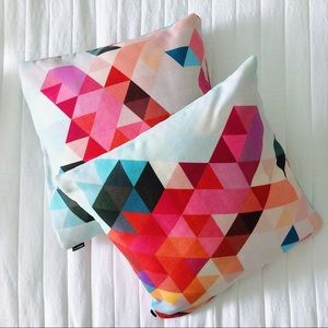Society 6 multi color triangle throw pillows